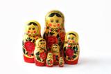 russian babushka nesting dolls poster