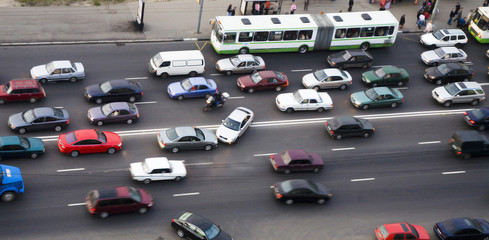 an accident on a road