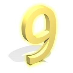 3d gold nine