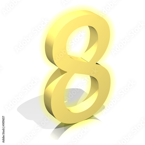 3d gold eight