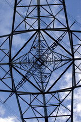 inside an electricity pylon