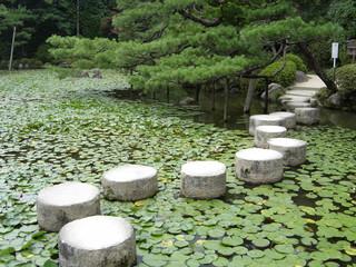 stepping stones in the garden of the heian-jingu s