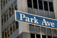 Placa Park Avenue, em Manhattan, Nova York
