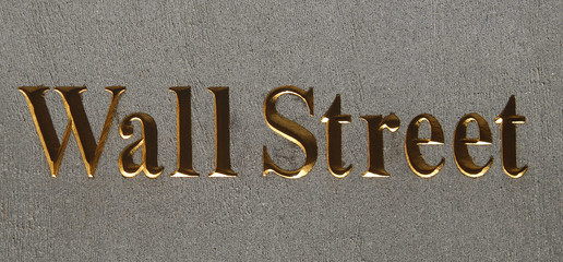 wall street plaque, manhattan, new york city