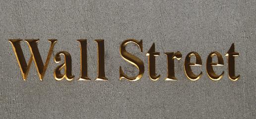 wall street plaque, manhattan, new york city