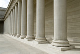 greek style columns poster