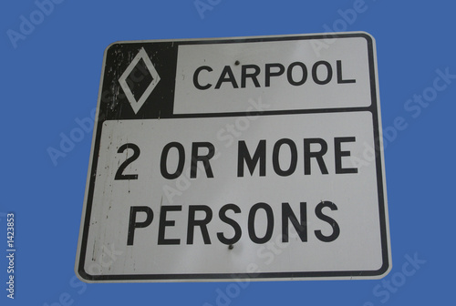 carpool vehicles only sign