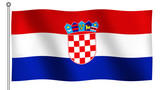 flag of croatia waving poster