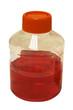 laboratory plastic bottle isolated