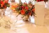 Fototapety table menu