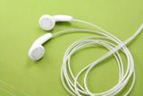 white headphones poster