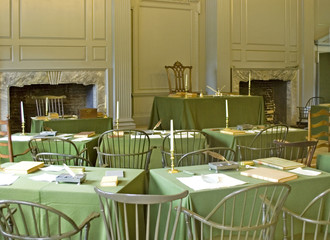 signing room, independence hall, philadelphia
