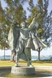 statue of sir george sommers, bermuda poster
