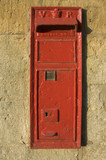letter posting box in wall poster