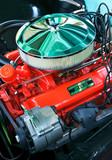 vintage automobile engine poster
