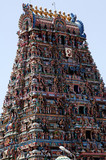 india, chennai: indouist temple poster