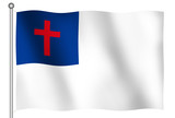 christian flag waving poster