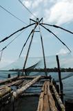 india, cochin: chinese fishing nets poster