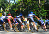 stock photo of bicycle racing in motion blur poster