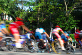 bicycle racing in motion blur poster
