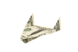 us dollar bill airplane