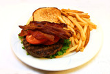 grilled bacon burger poster