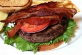 bacon on hamburger poster