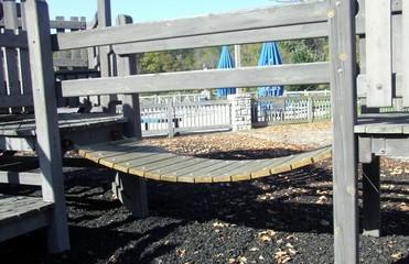 swinging bridge at playground