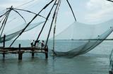 india, cochin: chinese fiching nets poster