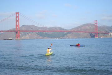 kayaking by the golden gate bridge