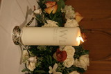 unity candle with flowers poster