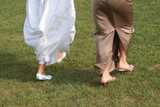 wedding feet, bride and maid or honor poster