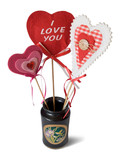 vase with hearts - i love you poster
