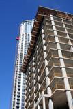 apartment buildings under construction poster