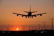 sunset jet landing 2