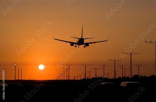 sunset jet landing 1 - 1443659