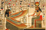 papyrus with elements of egyptian ancient history - 1444247