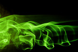 abstract background shape - green smoke - 1446248