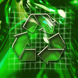 recycling icon poster
