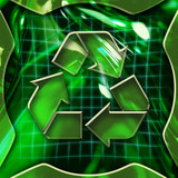 recycling icon deactivated poster