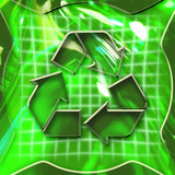 recycling icon activated poster