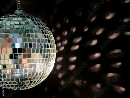 Leinwanddruck Bild disco ball reflections
