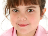 close up of beautiful five year old girl poster