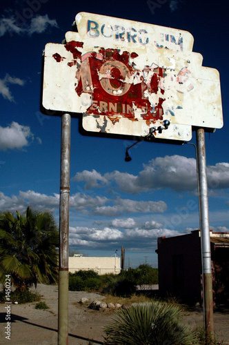 old abandoned sign