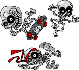 vector cartoon skeletons