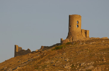 balaklava. ruins of genoese fortress