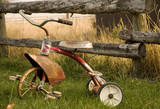 rustic tricycle poster