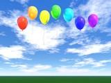 Fototapety rainbow balloons