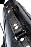hand made black leather bag poster