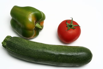 vegetables, white background